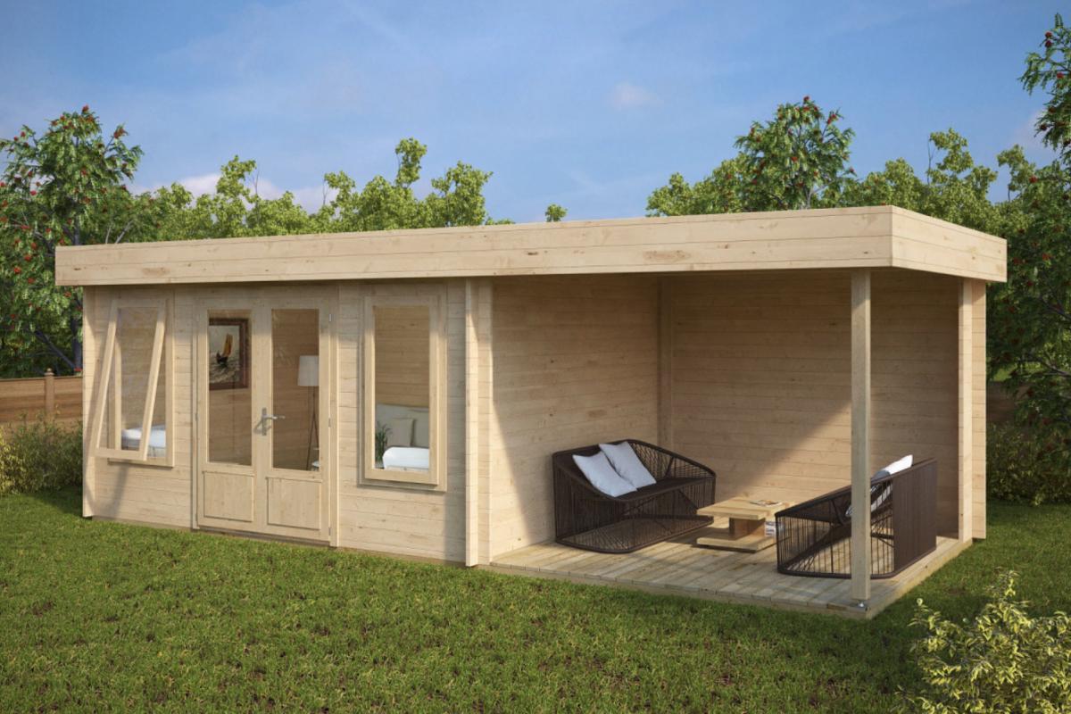 Royal koala casette in legno di design for Terreno con casetta in legno